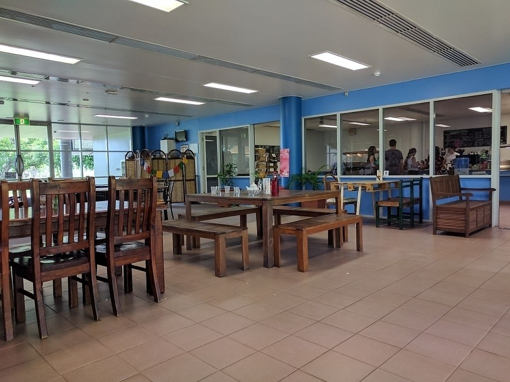 """Photo of Kings Wholefood Artisan  by <a href=""""/members/profile/VeganSoapDude"""">VeganSoapDude</a> <br/>Comfy cafeteria seating  <br/> February 11, 2017  - <a href='/contact/abuse/image/85769/225130'>Report</a>"""