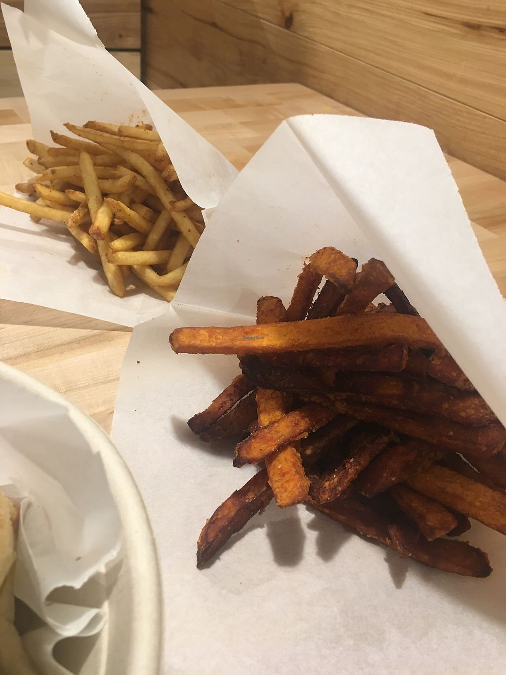 "Photo of Noon Mediterranean  by <a href=""/members/profile/SandyBarros"">SandyBarros</a> <br/>Sweet potato and regular fries <br/> November 28, 2017  - <a href='/contact/abuse/image/85789/330237'>Report</a>"
