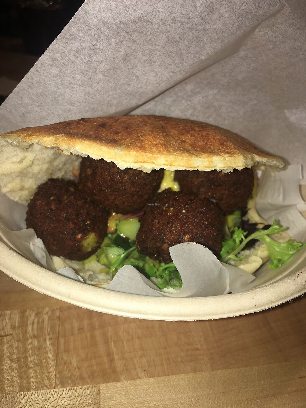 "Photo of Noon Mediterranean  by <a href=""/members/profile/SandyBarros"">SandyBarros</a> <br/>Vegan pita with falafel and veggies <br/> November 28, 2017  - <a href='/contact/abuse/image/85789/330238'>Report</a>"