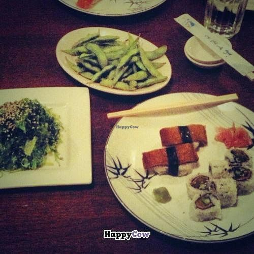"Photo of Surin West  by <a href=""/members/profile/noHamInTheHam"">noHamInTheHam</a> <br/>Seaweed salad, edamame, tofu nigiri, and a veggie roll <br/> October 18, 2013  - <a href='/contact/abuse/image/8578/56891'>Report</a>"