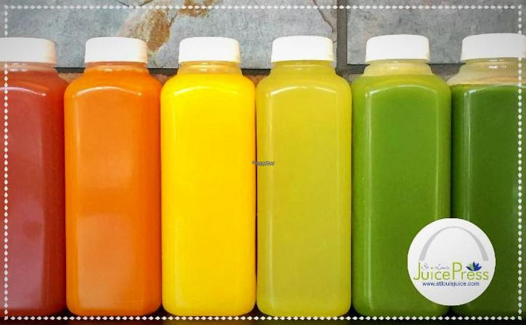 """Photo of St. Louis Juice Press  by <a href=""""/members/profile/StLouisJuicePress"""">StLouisJuicePress</a> <br/>Carrot Apple Ginger, Pineapple Orange Ginger, Pineapple Cucumber, Cucumber Celery Apple Spinach <br/> February 21, 2017  - <a href='/contact/abuse/image/85799/228957'>Report</a>"""
