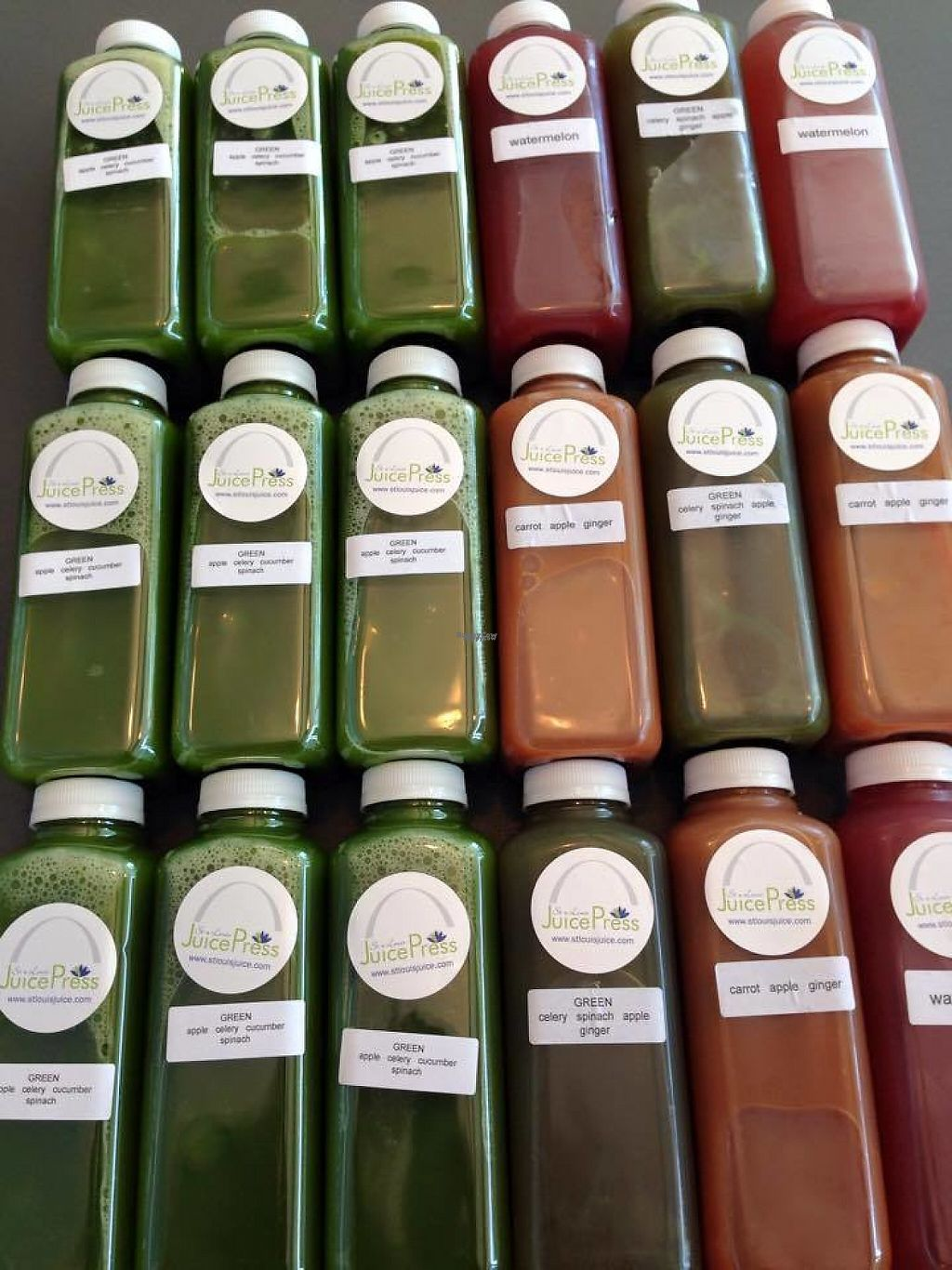 """Photo of St. Louis Juice Press  by <a href=""""/members/profile/StLouisJuicePress"""">StLouisJuicePress</a> <br/>3 day juice cleanse! <br/> February 21, 2017  - <a href='/contact/abuse/image/85799/228958'>Report</a>"""