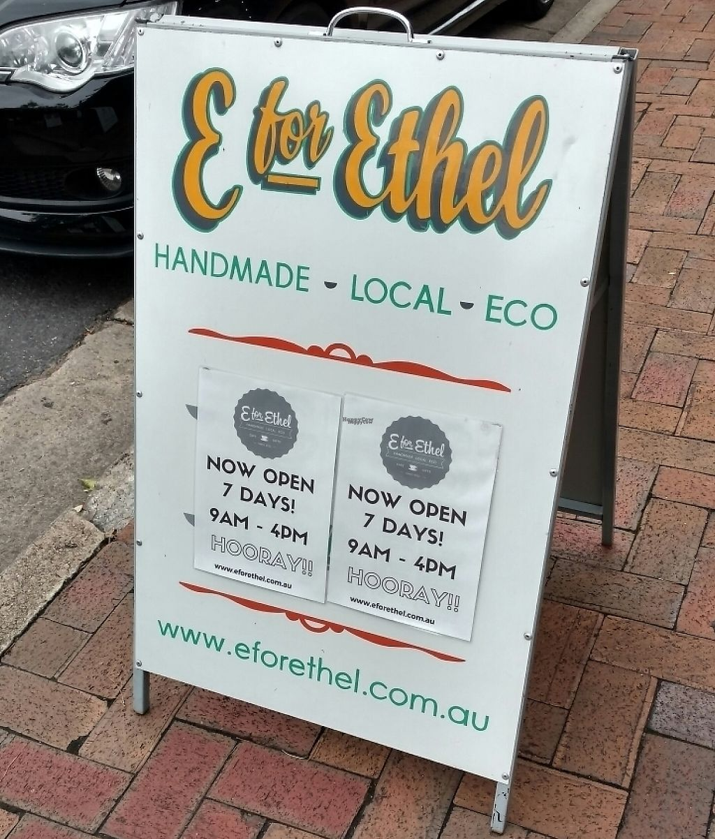 "Photo of E for Ethel  by <a href=""/members/profile/Beckanoid"">Beckanoid</a> <br/>Sign on Melbourne St <br/> January 20, 2017  - <a href='/contact/abuse/image/85803/255322'>Report</a>"