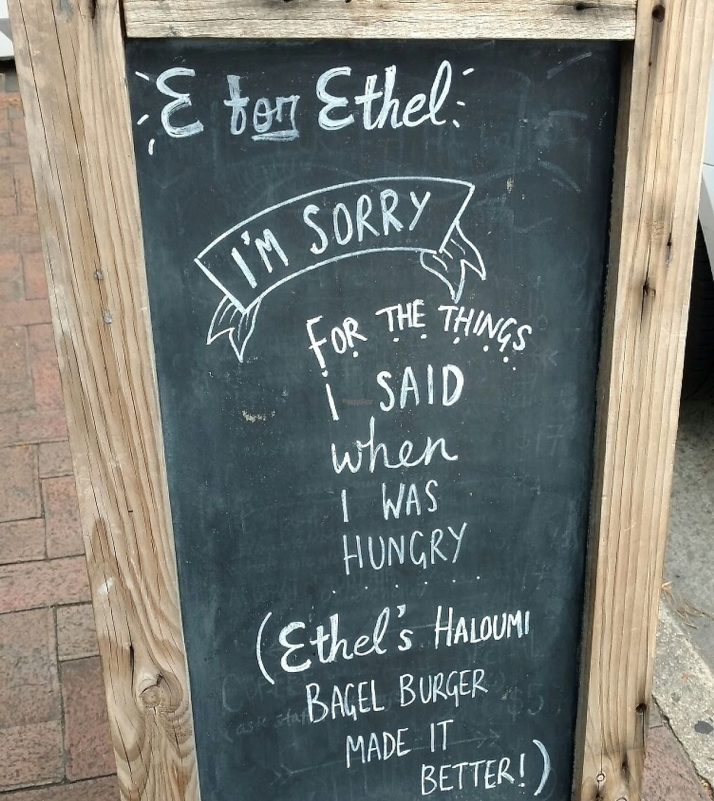 "Photo of E for Ethel  by <a href=""/members/profile/Beckanoid"">Beckanoid</a> <br/>Sign on Melbourne St <br/> January 20, 2017  - <a href='/contact/abuse/image/85803/255323'>Report</a>"