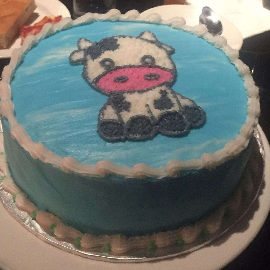 "Photo of Black Cat Bakery  by <a href=""/members/profile/exhale"">exhale</a> <br/>Cutest cow ever! This is the only cow anyone should be dining on! Thanks for the awesome vegan birthday cake, Black Cat Bakery! <br/> January 20, 2017  - <a href='/contact/abuse/image/85823/213732'>Report</a>"