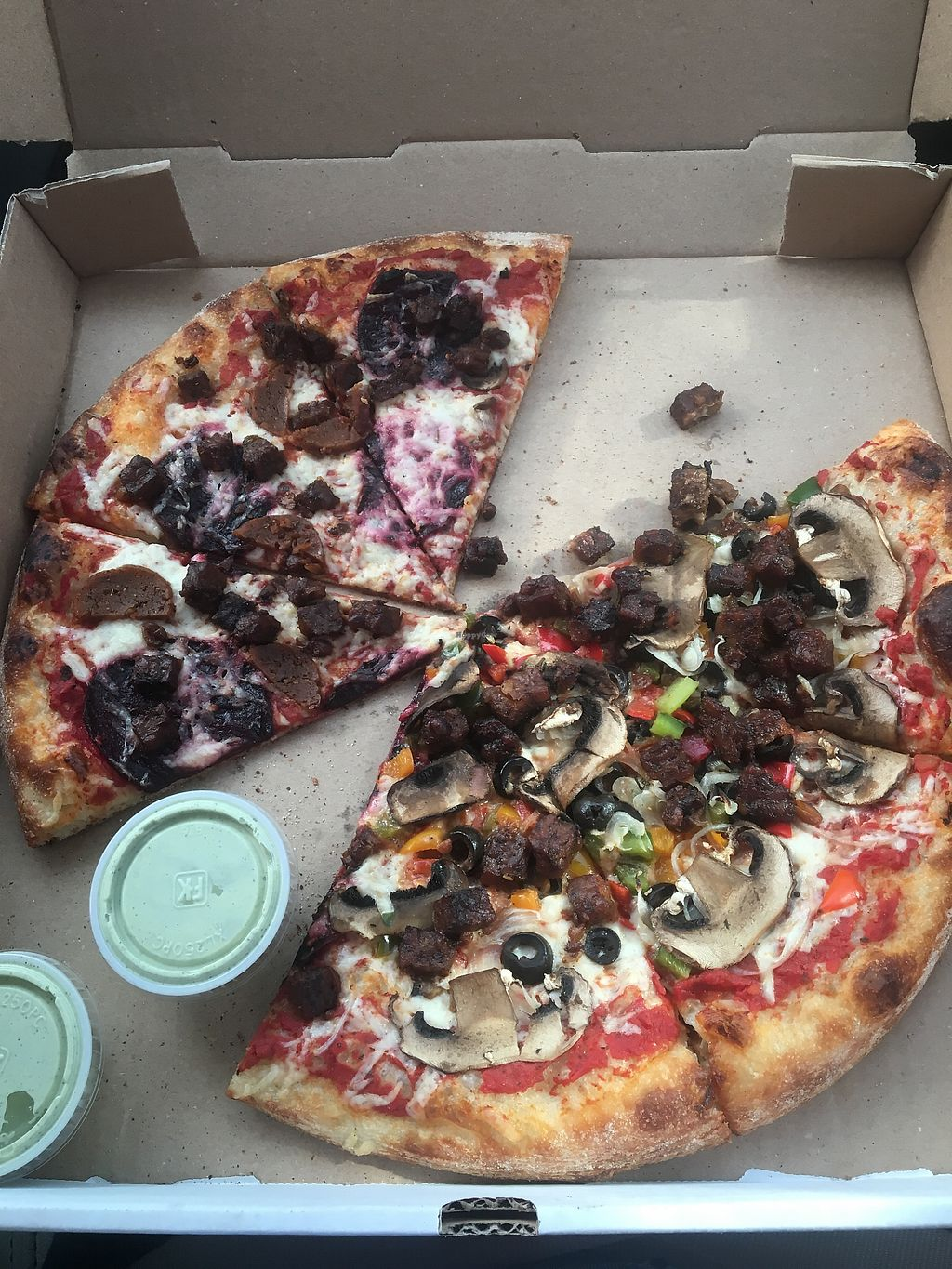 """Photo of Li'l Nonna's - Food Truck  by <a href=""""/members/profile/MichelaGiordano"""">MichelaGiordano</a> <br/>half meats half supreme with vegan ranch on the side  <br/> July 27, 2017  - <a href='/contact/abuse/image/85830/285517'>Report</a>"""