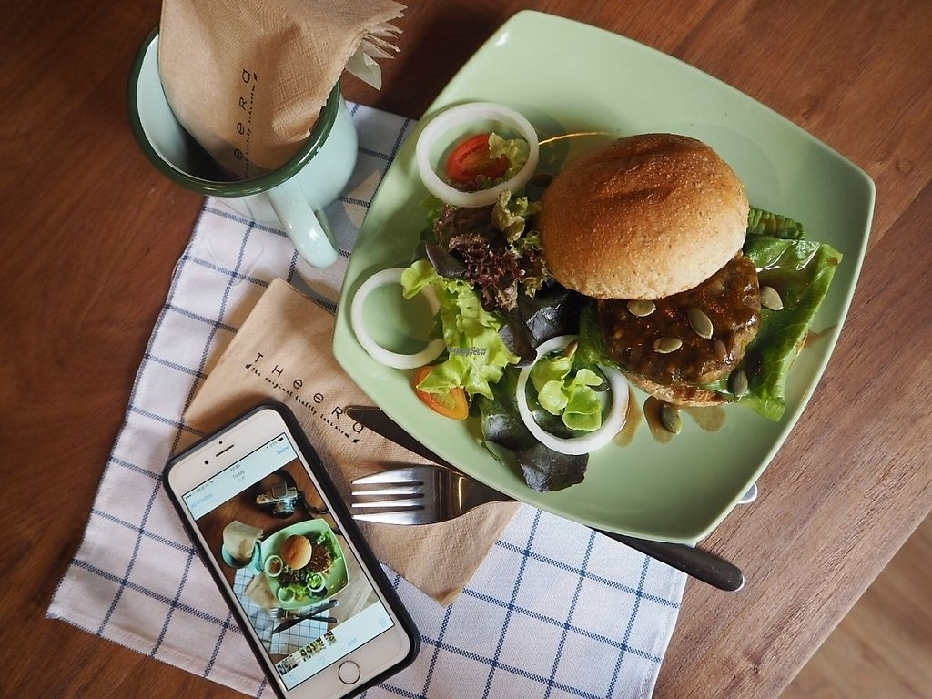 """Photo of Steps with Theera  by <a href=""""/members/profile/MaxSimpson"""">MaxSimpson</a> <br/>Pumpkin, sweet potato and feta burger  <br/> January 22, 2017  - <a href='/contact/abuse/image/85845/214415'>Report</a>"""