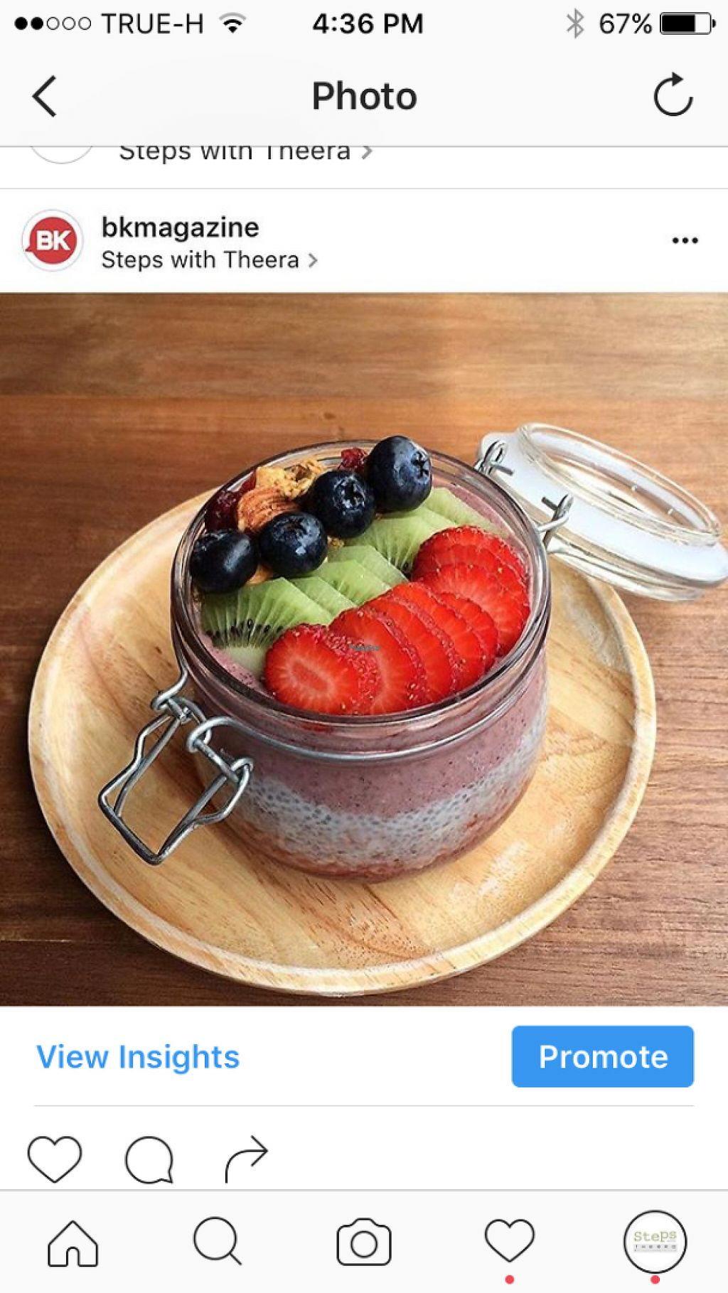 """Photo of Steps with Theera  by <a href=""""/members/profile/MaxSimpson"""">MaxSimpson</a> <br/>Chai and acai layered jar with fresh fruit  <br/> January 22, 2017  - <a href='/contact/abuse/image/85845/214416'>Report</a>"""