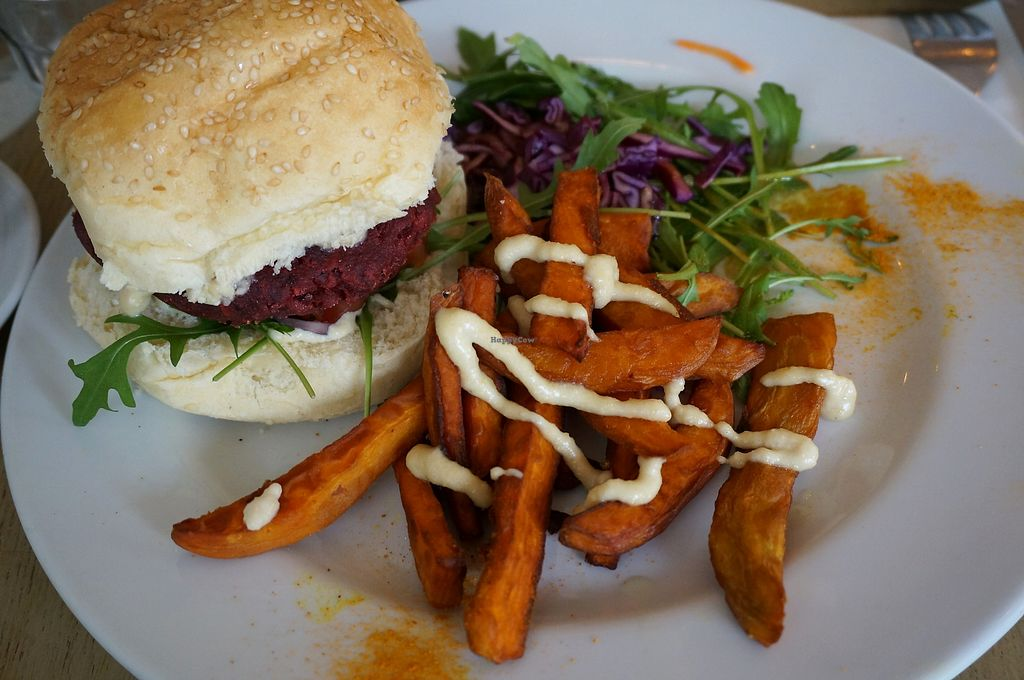 """Photo of L'Abattoir Vegetal  by <a href=""""/members/profile/Ricardo"""">Ricardo</a> <br/>Beetroot burger <br/> February 13, 2018  - <a href='/contact/abuse/image/85847/358892'>Report</a>"""