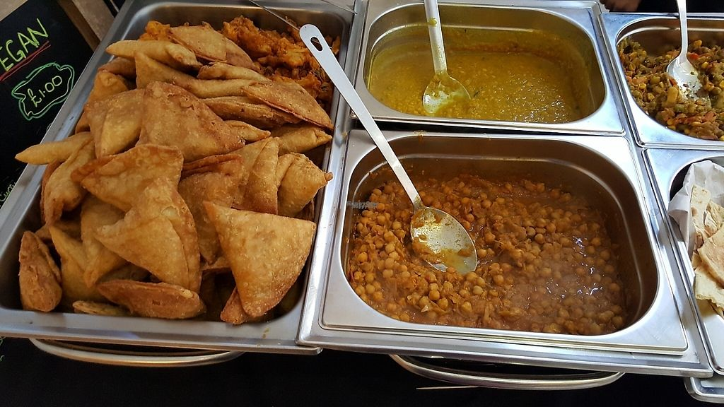 "Photo of Indian TALI Company Vegan  by <a href=""/members/profile/Clare"">Clare</a> <br/>Hot food and samosas <br/> January 21, 2017  - <a href='/contact/abuse/image/85861/214334'>Report</a>"