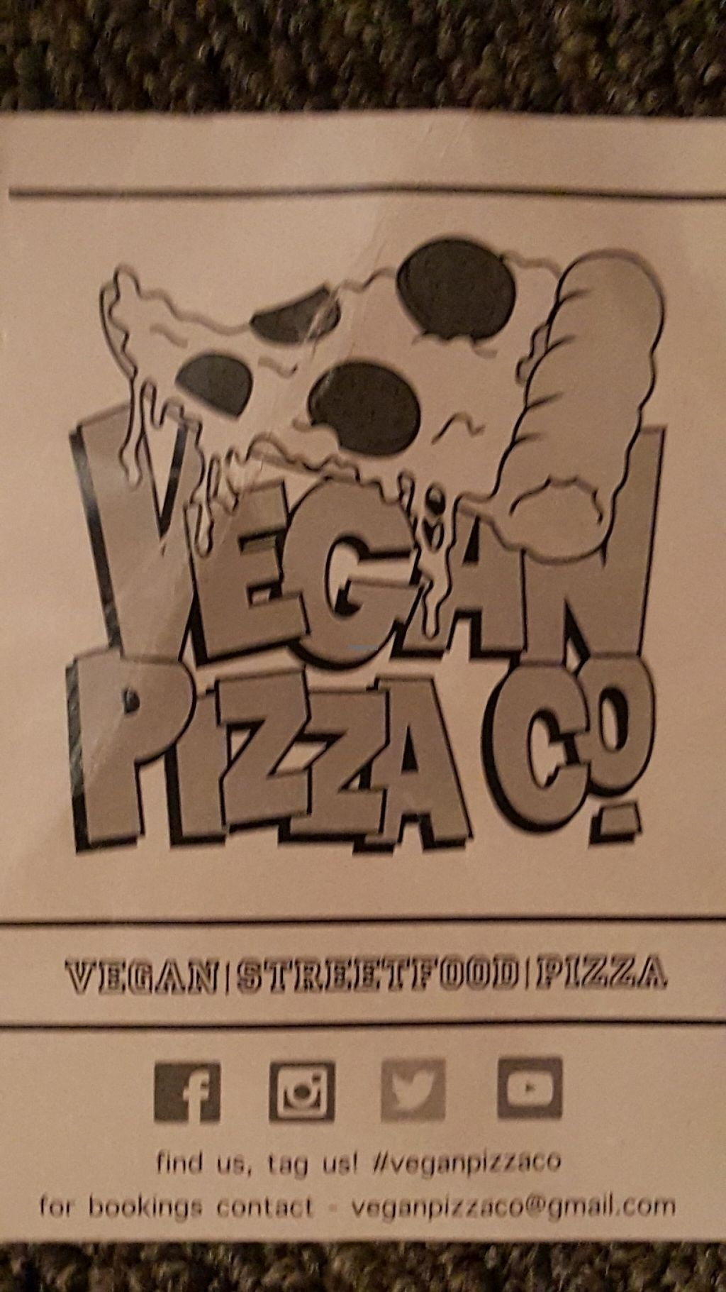 """Photo of Vegan Pizza Co.  by <a href=""""/members/profile/Clare"""">Clare</a> <br/>Flyer <br/> January 22, 2017  - <a href='/contact/abuse/image/85874/214514'>Report</a>"""