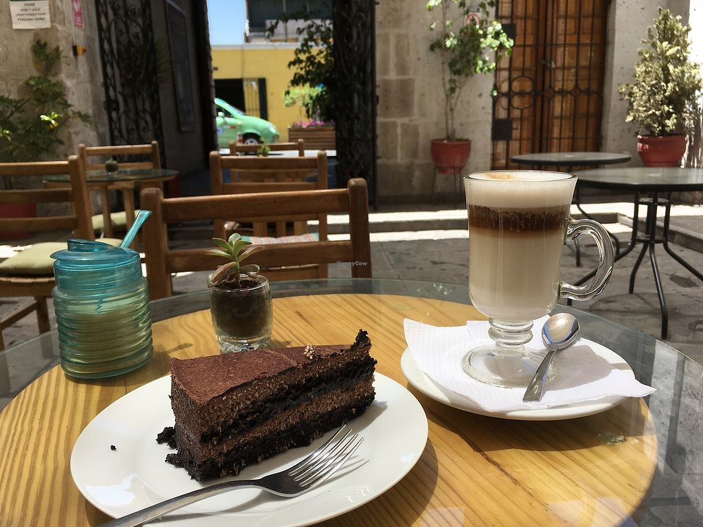 "Photo of Omphalos  by <a href=""/members/profile/peas-full"">peas-full</a> <br/>vegan cake and cappuccino <br/> October 9, 2017  - <a href='/contact/abuse/image/85879/313702'>Report</a>"