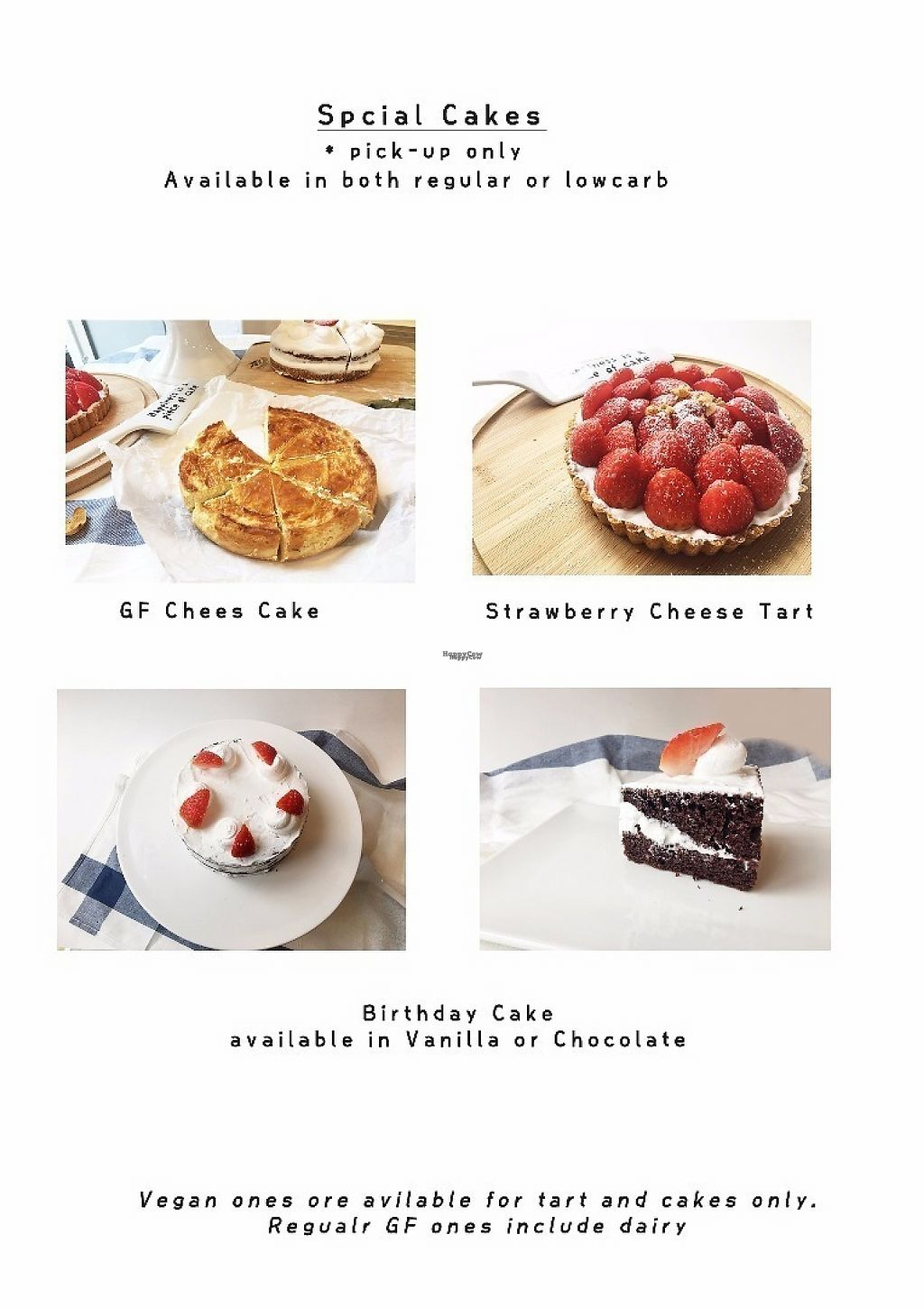 """Photo of Sunny's GF Sweets  by <a href=""""/members/profile/seongrye7"""">seongrye7</a> <br/>Tart and cake can be made vegan or vegetarian ! <br/> January 23, 2017  - <a href='/contact/abuse/image/85908/215236'>Report</a>"""