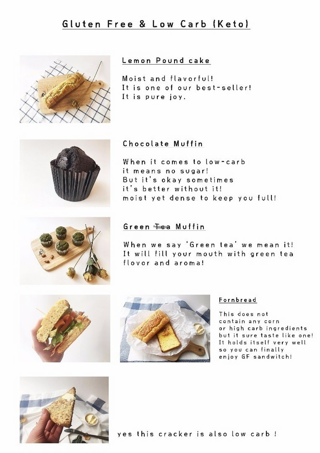 """Photo of Sunny's GF Sweets  by <a href=""""/members/profile/seongrye7"""">seongrye7</a> <br/>Low Carb menu (warning! It contain eggs!) <br/> January 23, 2017  - <a href='/contact/abuse/image/85908/215238'>Report</a>"""
