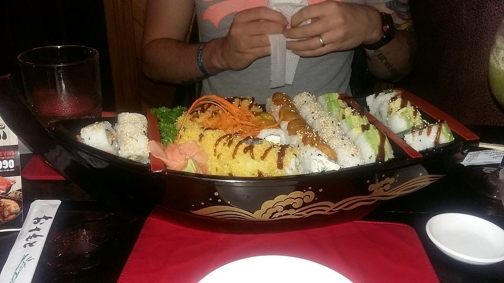 """Photo of Kappa Sushi  by <a href=""""/members/profile/LauraSturgeon"""">LauraSturgeon</a> <br/>The epic vegan sushi boat! <br/> January 23, 2017  - <a href='/contact/abuse/image/85954/215433'>Report</a>"""