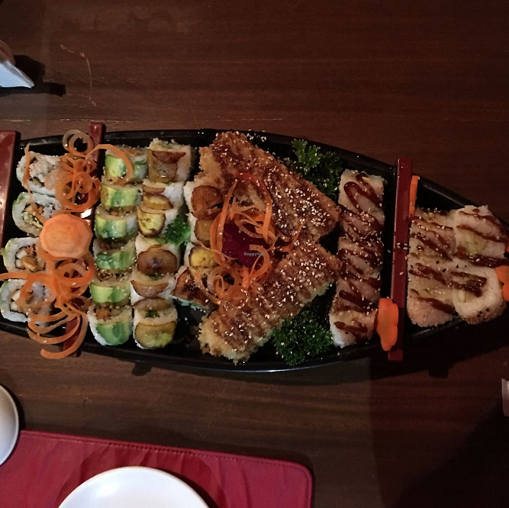 """Photo of Kappa Sushi  by <a href=""""/members/profile/gwild"""">gwild</a> <br/>vegan sushi boat $29  <br/> February 13, 2017  - <a href='/contact/abuse/image/85954/274484'>Report</a>"""