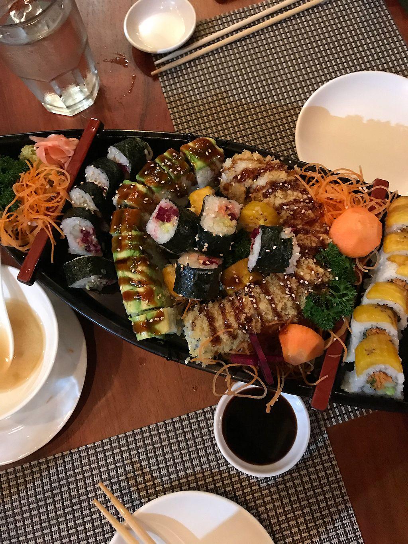 "Photo of Kappa Sushi  by <a href=""/members/profile/katmatsa"">katmatsa</a> <br/>Vegan sushi boat <br/> December 30, 2017  - <a href='/contact/abuse/image/85954/340740'>Report</a>"