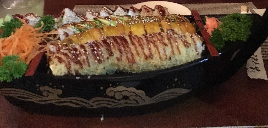 """Photo of Kappa Sushi  by <a href=""""/members/profile/pascalvschori"""">pascalvschori</a> <br/>vegan sushi - boat <br/> February 3, 2018  - <a href='/contact/abuse/image/85954/354218'>Report</a>"""