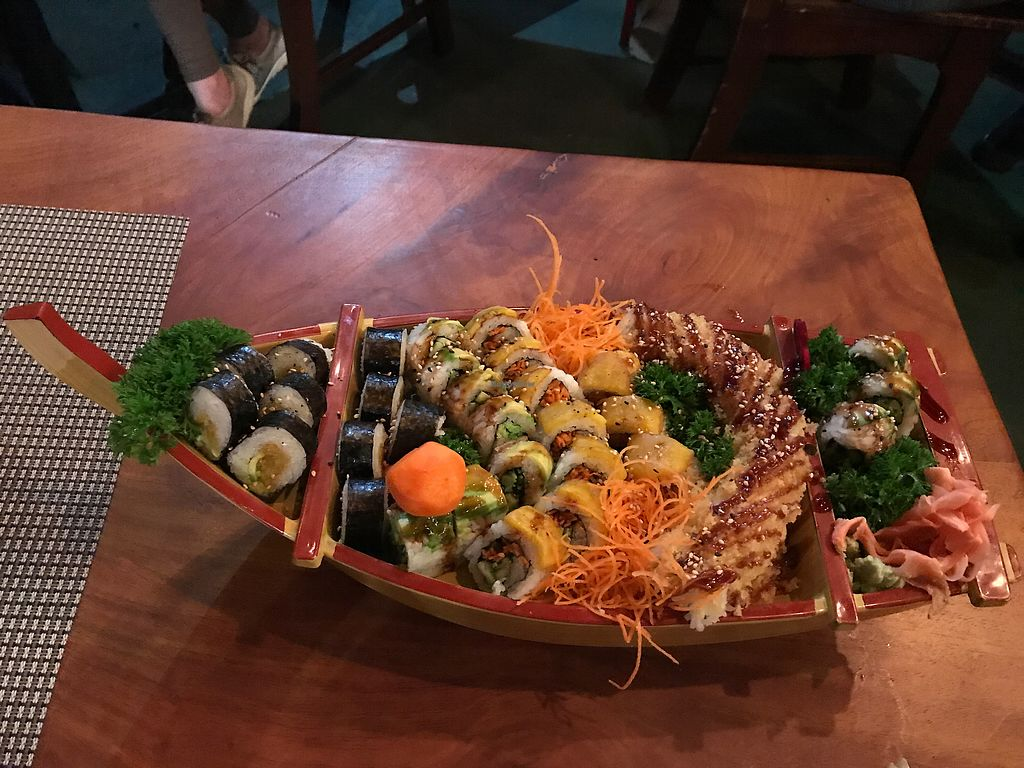 """Photo of Kappa Sushi  by <a href=""""/members/profile/GaryBartlett"""">GaryBartlett</a> <br/>Vegan sushi boat <br/> April 3, 2018  - <a href='/contact/abuse/image/85954/380063'>Report</a>"""