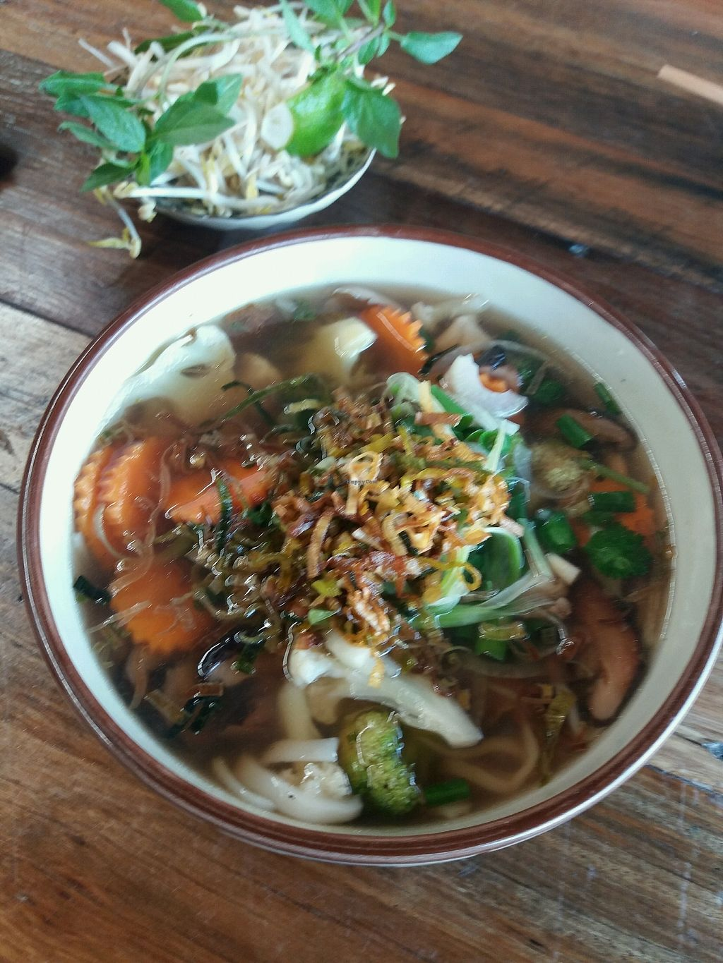 """Photo of Hello Auntie  by <a href=""""/members/profile/veganvirtues"""">veganvirtues</a> <br/>vegan pho <br/> December 28, 2017  - <a href='/contact/abuse/image/85983/339816'>Report</a>"""