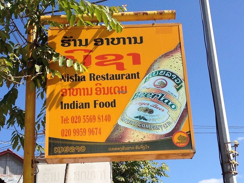 """Photo of Nisha Restaurant   by <a href=""""/members/profile/Tofulicious"""">Tofulicious</a> <br/>Sign on street <br/> January 31, 2017  - <a href='/contact/abuse/image/85984/220119'>Report</a>"""