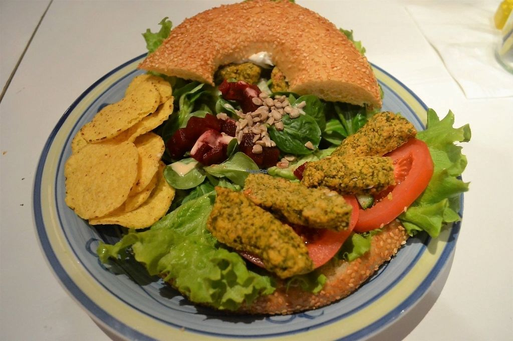"""Photo of Bol et Bagel  by <a href=""""/members/profile/community"""">community</a> <br/>Vegan Falafel Bagel <br/> January 24, 2017  - <a href='/contact/abuse/image/85987/216108'>Report</a>"""