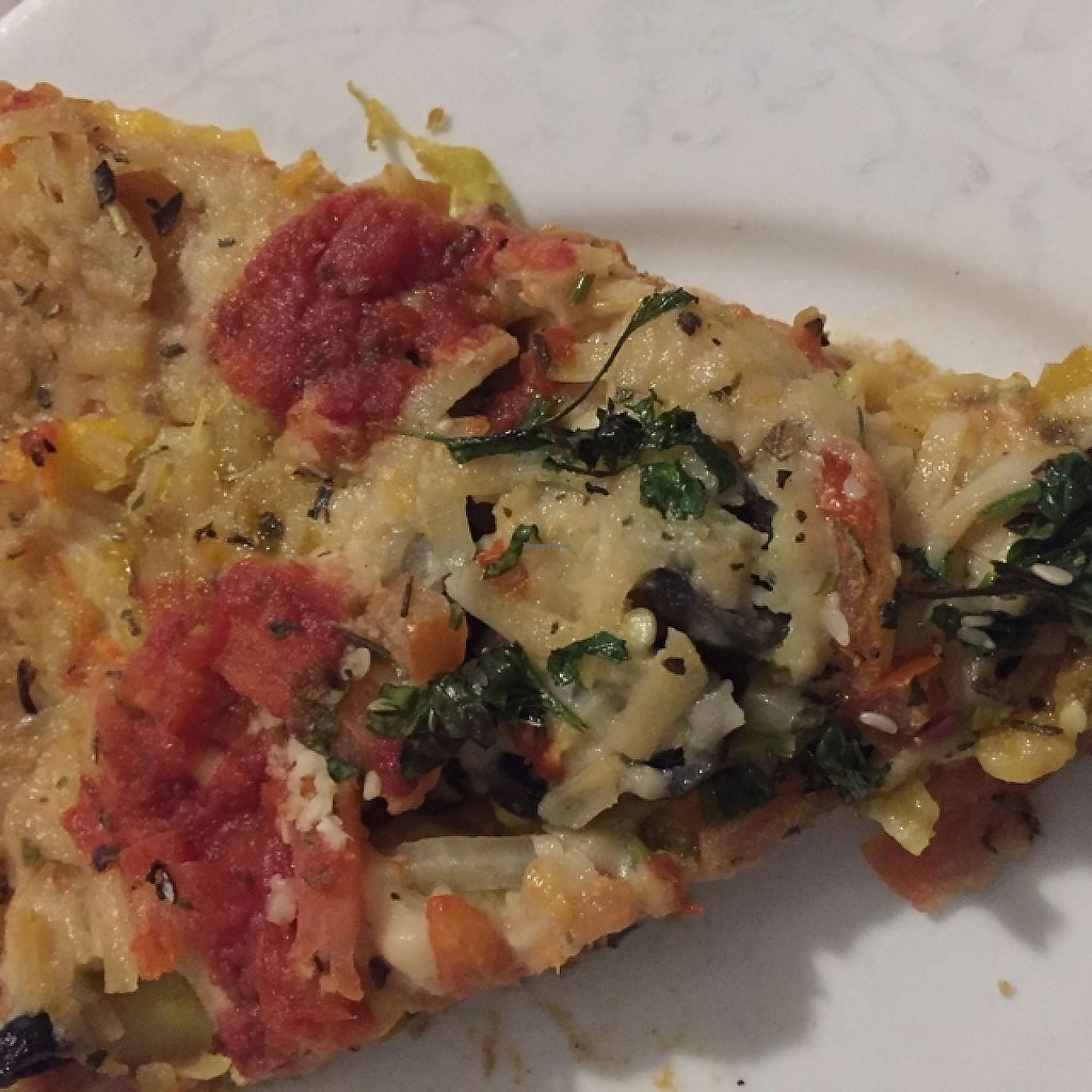 """Photo of Mr Natural Vegetarian Pizza - St. Kilda  by <a href=""""/members/profile/Dawson1303"""">Dawson1303</a> <br/>bezalya with vegan cheese <br/> September 19, 2015  - <a href='/contact/abuse/image/8598/261956'>Report</a>"""