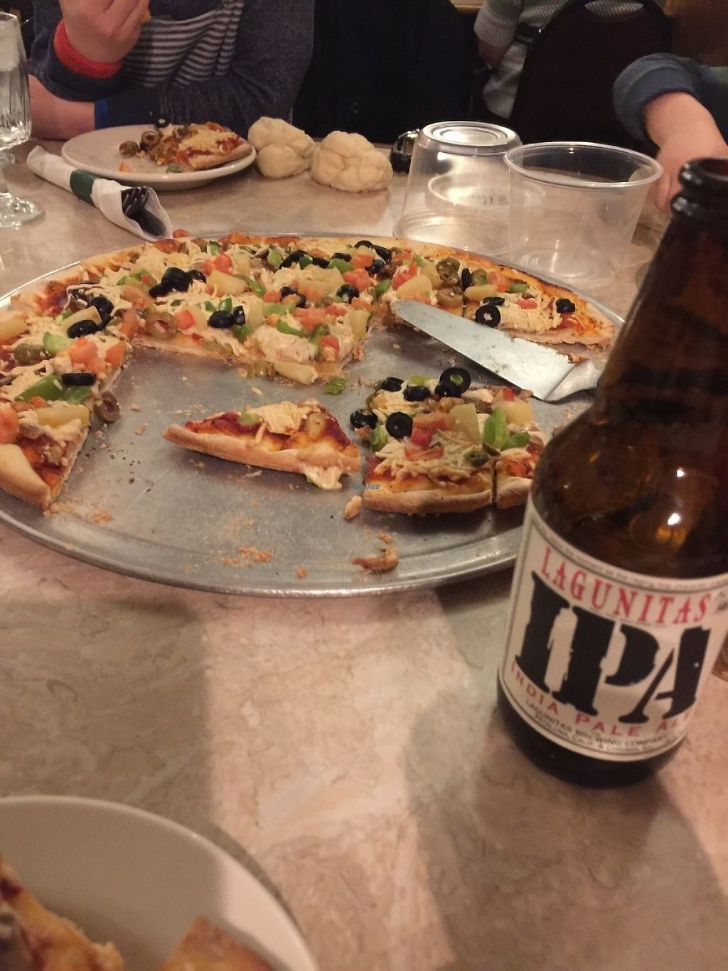 """Photo of John's Restaurant  by <a href=""""/members/profile/TgNeisewander"""">TgNeisewander</a> <br/>Vegetarian pizza with Daiya cheese.  <br/> January 25, 2017  - <a href='/contact/abuse/image/86024/216650'>Report</a>"""