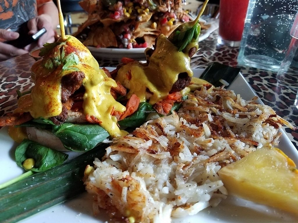 "Photo of No Bones Beach Club  by <a href=""/members/profile/EverydayTastiness"">EverydayTastiness</a> <br/>Fried avocado benedict <br/> May 13, 2017  - <a href='/contact/abuse/image/86035/258494'>Report</a>"