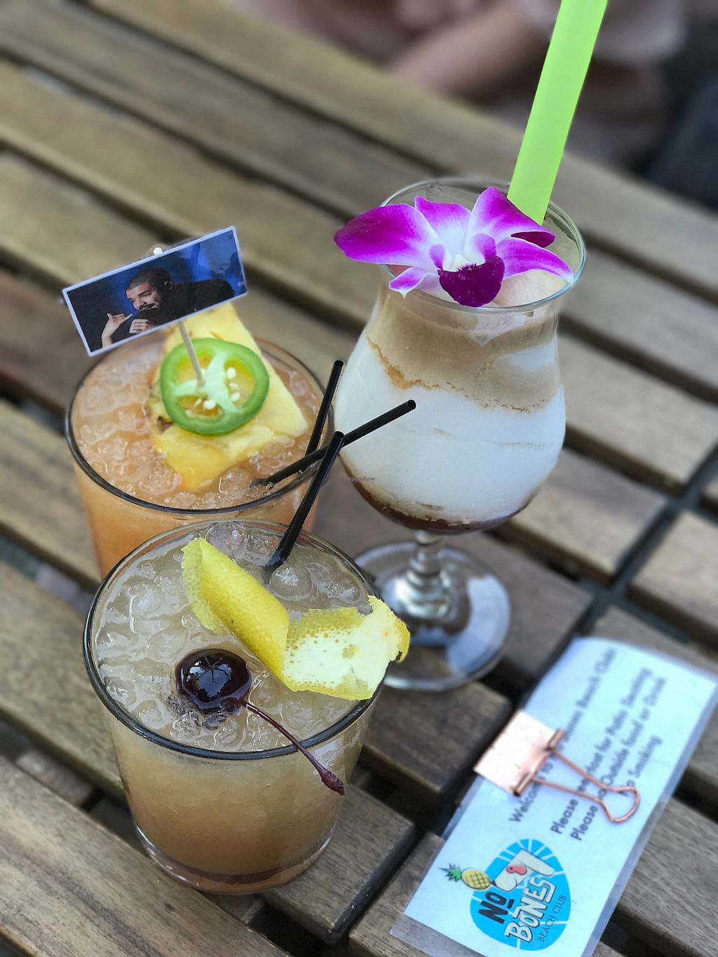 "Photo of No Bones Beach Club  by <a href=""/members/profile/modelmd"">modelmd</a> <br/>drinks <br/> September 2, 2017  - <a href='/contact/abuse/image/86035/299865'>Report</a>"