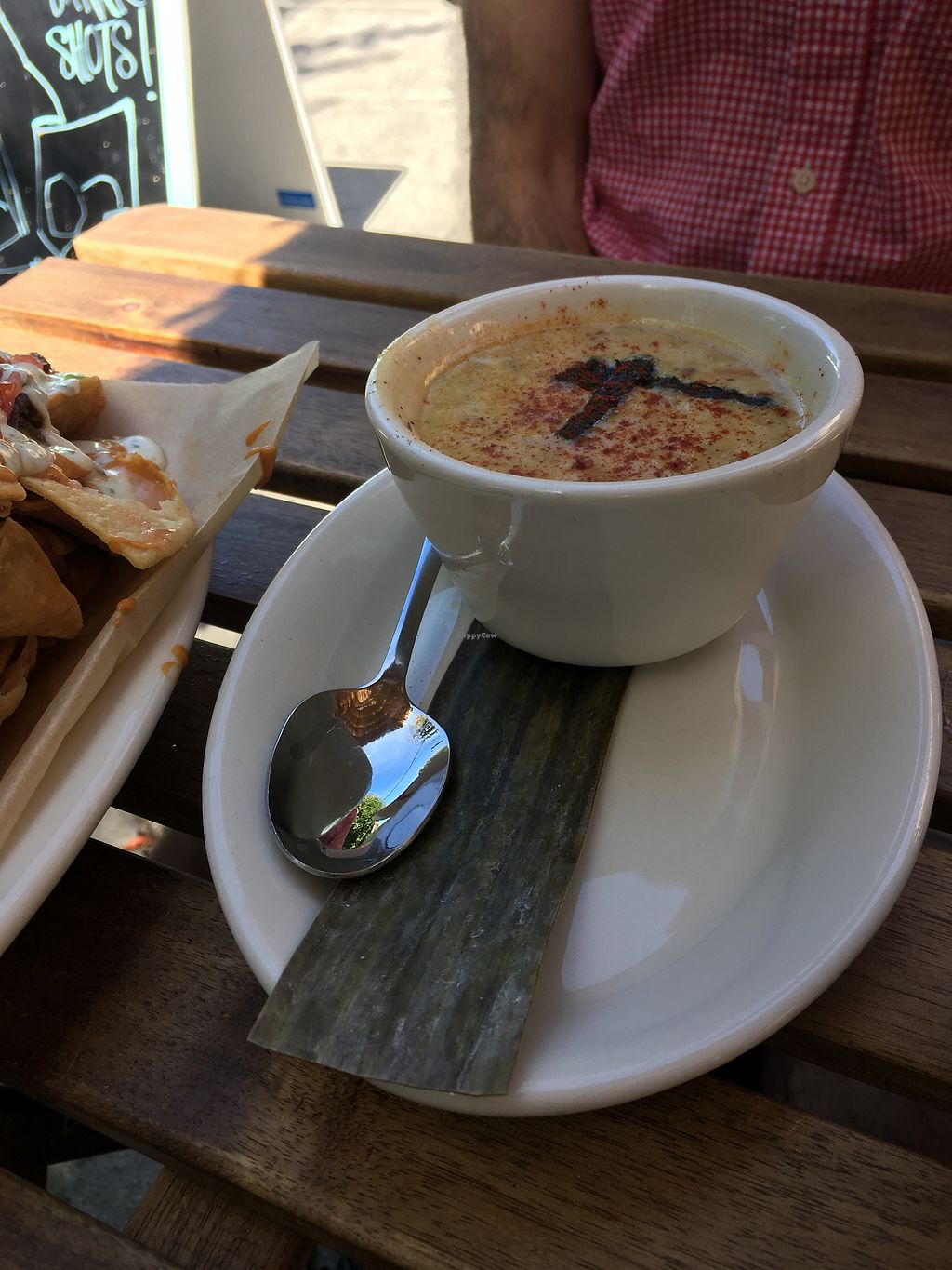"Photo of No Bones Beach Club  by <a href=""/members/profile/perkonius"">perkonius</a> <br/>Chowder - good but could use more mushroom/seaweed flavor for that vegan ""chowder"" taste <br/> September 10, 2017  - <a href='/contact/abuse/image/86035/303090'>Report</a>"