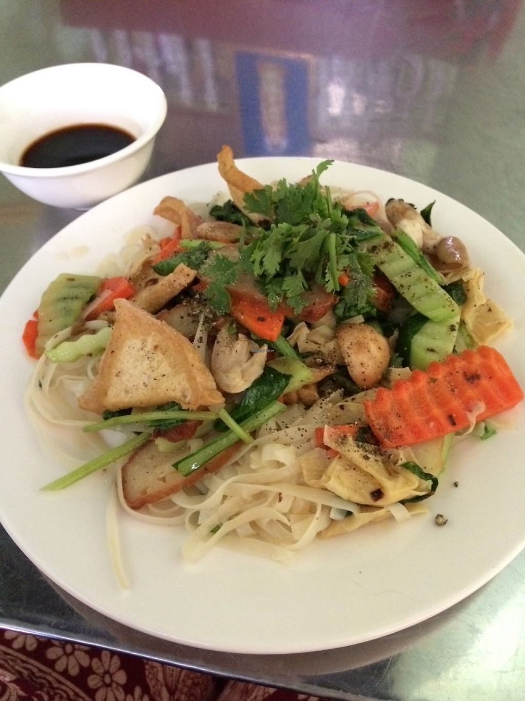 """Photo of Quan Chay  by <a href=""""/members/profile/Cyclinggal"""">Cyclinggal</a> <br/>Stir fried pho <br/> May 15, 2017  - <a href='/contact/abuse/image/86037/258955'>Report</a>"""