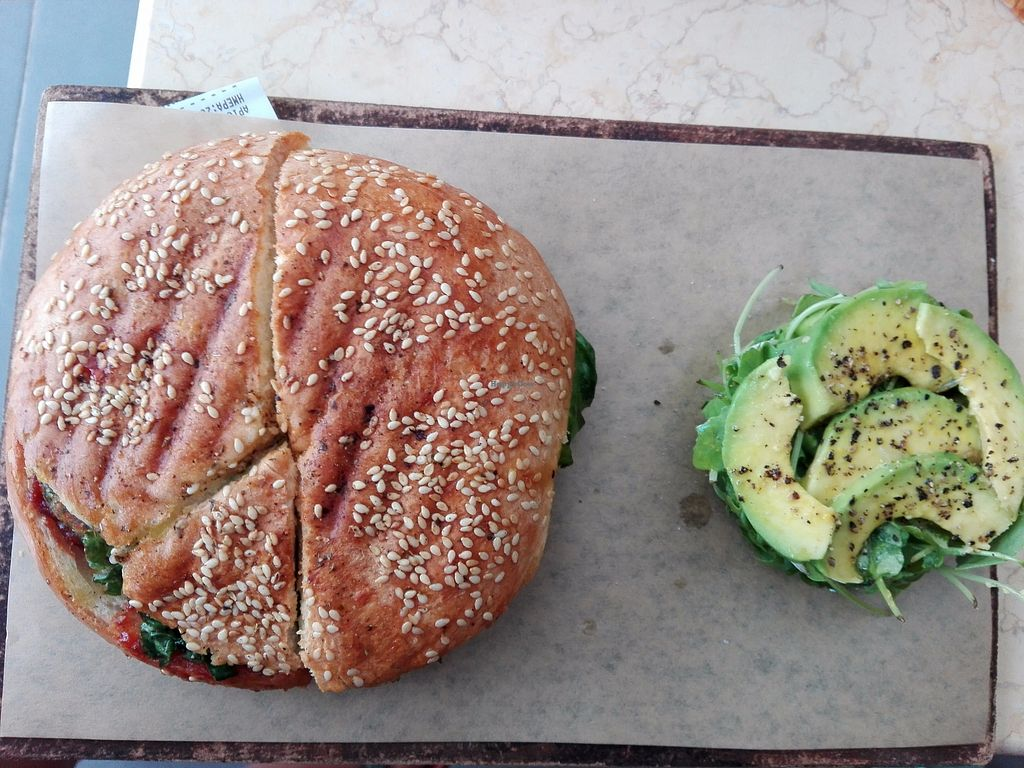 "Photo of Meraki Cafe  by <a href=""/members/profile/ElisaGR"">ElisaGR</a> <br/>Vegan burger  <br/> August 27, 2017  - <a href='/contact/abuse/image/86048/297799'>Report</a>"