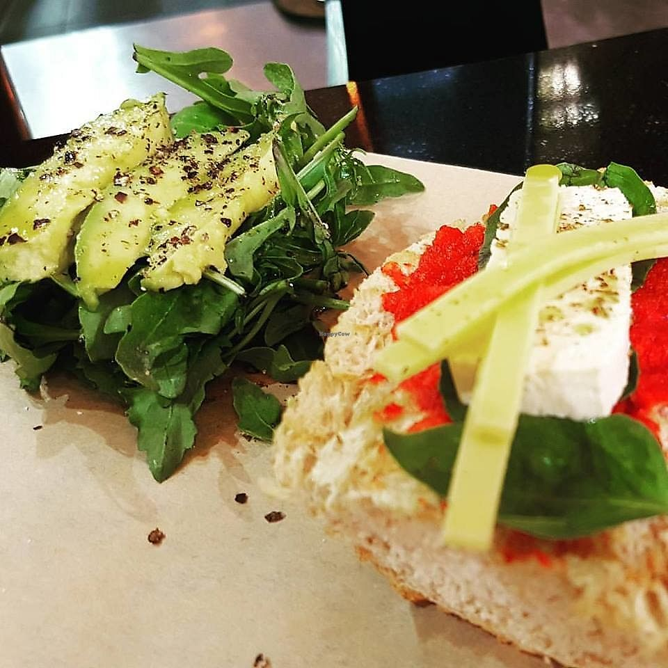 "Photo of Meraki Cafe  by <a href=""/members/profile/EmmanouilVogiatzakis"">EmmanouilVogiatzakis</a> <br/>Vegan open panini w/ rocket, avocado & marinated tofu <br/> September 11, 2017  - <a href='/contact/abuse/image/86048/303341'>Report</a>"