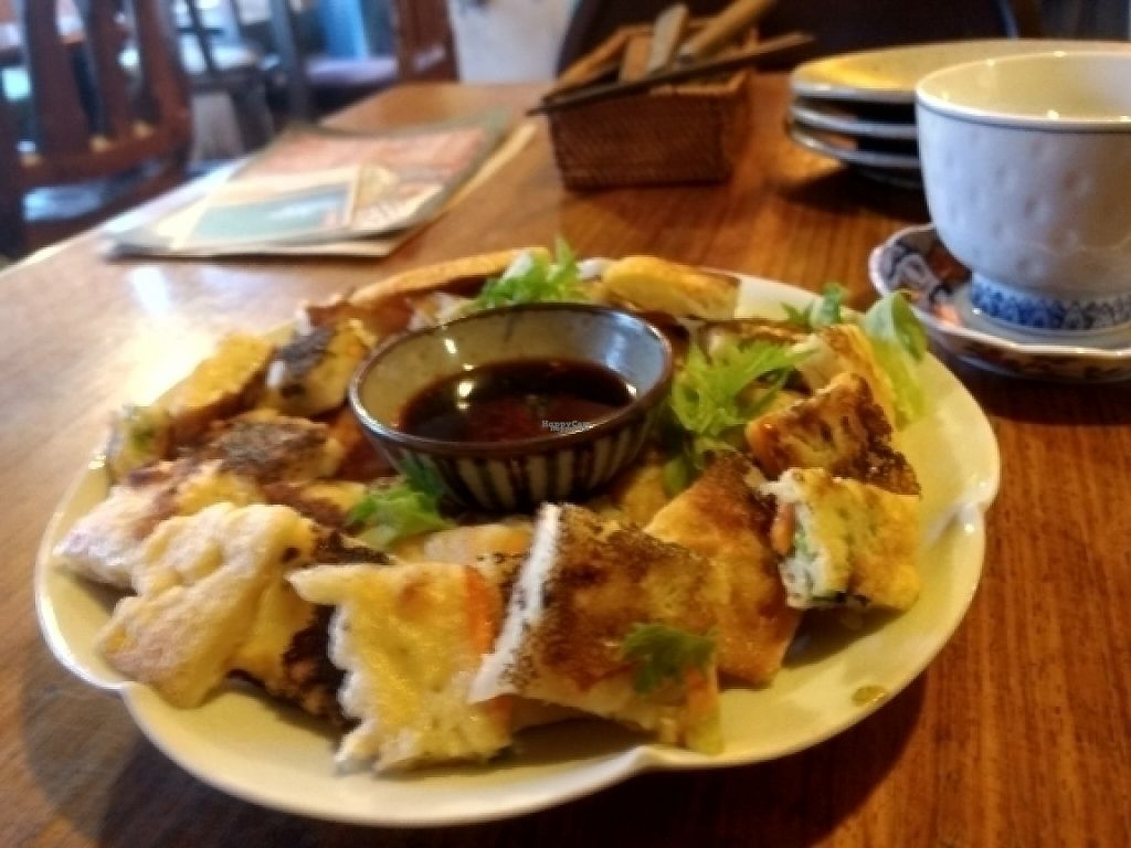 """Photo of Natural Food Village  by <a href=""""/members/profile/KinaFay"""">KinaFay</a> <br/>Korean Pancake  <br/> April 14, 2017  - <a href='/contact/abuse/image/86049/247797'>Report</a>"""