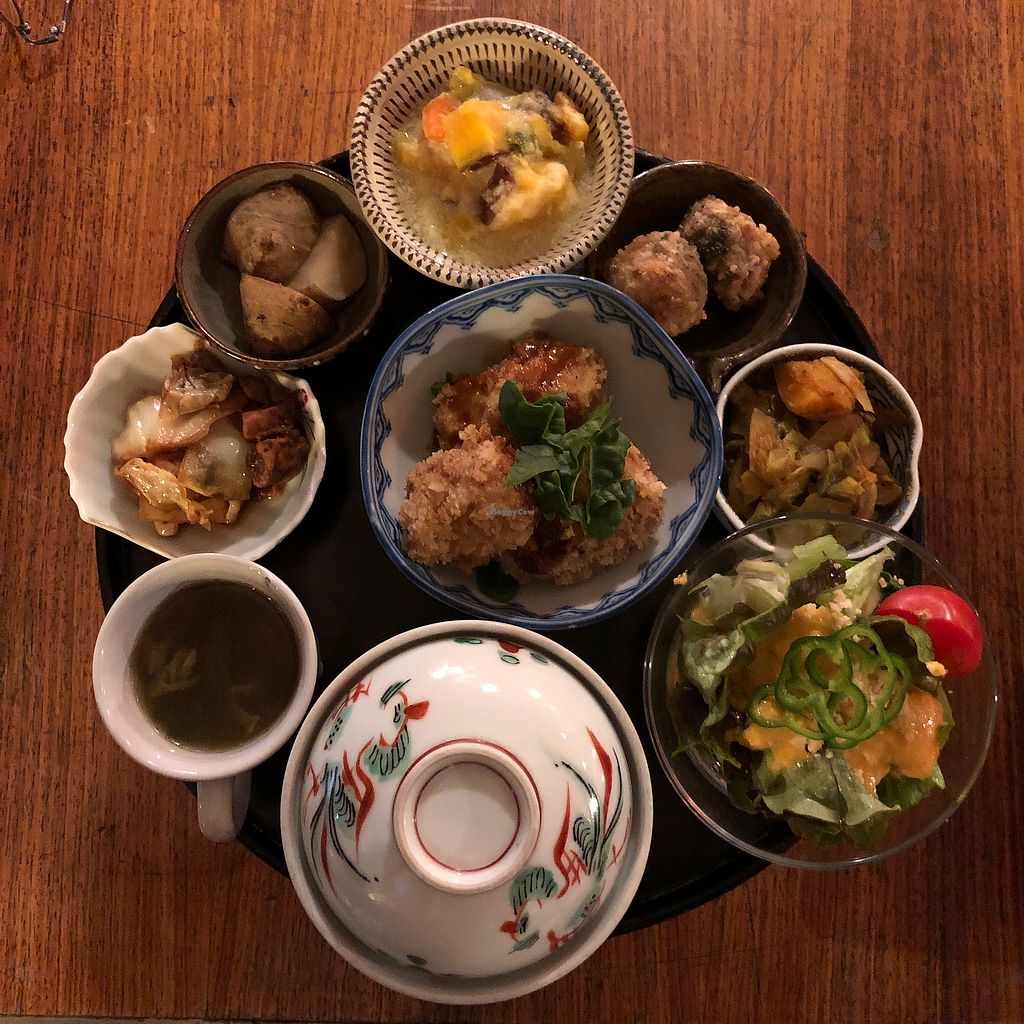 """Photo of Natural Food Village  by <a href=""""/members/profile/earthville"""">earthville</a> <br/>Dinner set menu <br/> February 6, 2018  - <a href='/contact/abuse/image/86049/355565'>Report</a>"""