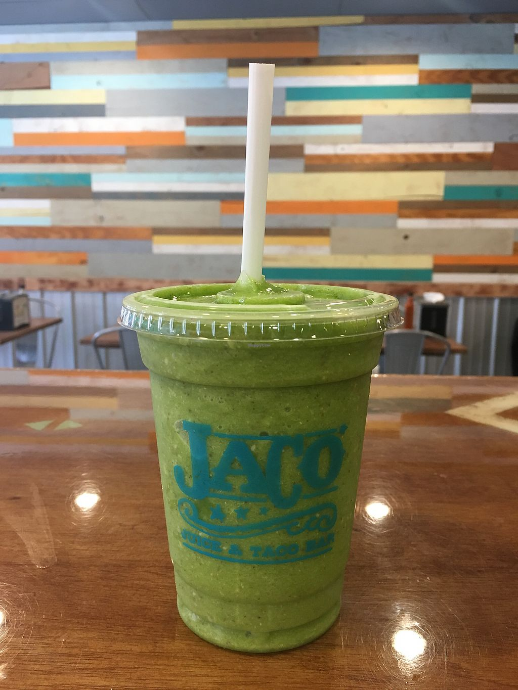 "Photo of Jaco Juice and Taco Bar  by <a href=""/members/profile/KnickelAllison"">KnickelAllison</a> <br/>Spinach Coolata smoothie! ( fresh spinach, pineapple, banana, chia, coconut  shavings and agave! ) <br/> February 9, 2018  - <a href='/contact/abuse/image/86050/357003'>Report</a>"