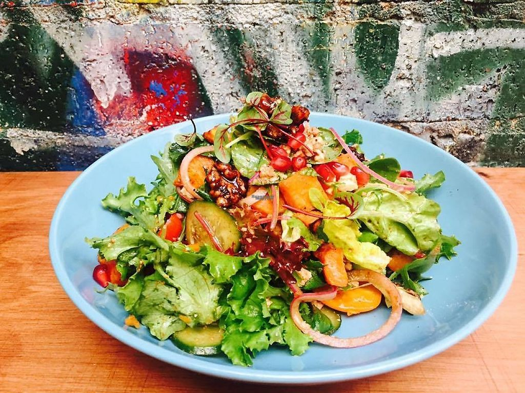 "Photo of Sappho Books Cafe & Bar  by <a href=""/members/profile/community"">community</a> <br/>Vegan Healthy Bowl <br/> January 27, 2017  - <a href='/contact/abuse/image/86098/218028'>Report</a>"