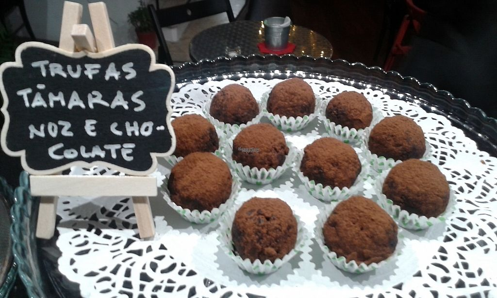 """Photo of Estefanea Cafe  by <a href=""""/members/profile/CNeves"""">CNeves</a> <br/>Dark chocolate, dates and walnut vegan truffles <br/> March 23, 2017  - <a href='/contact/abuse/image/86105/240059'>Report</a>"""