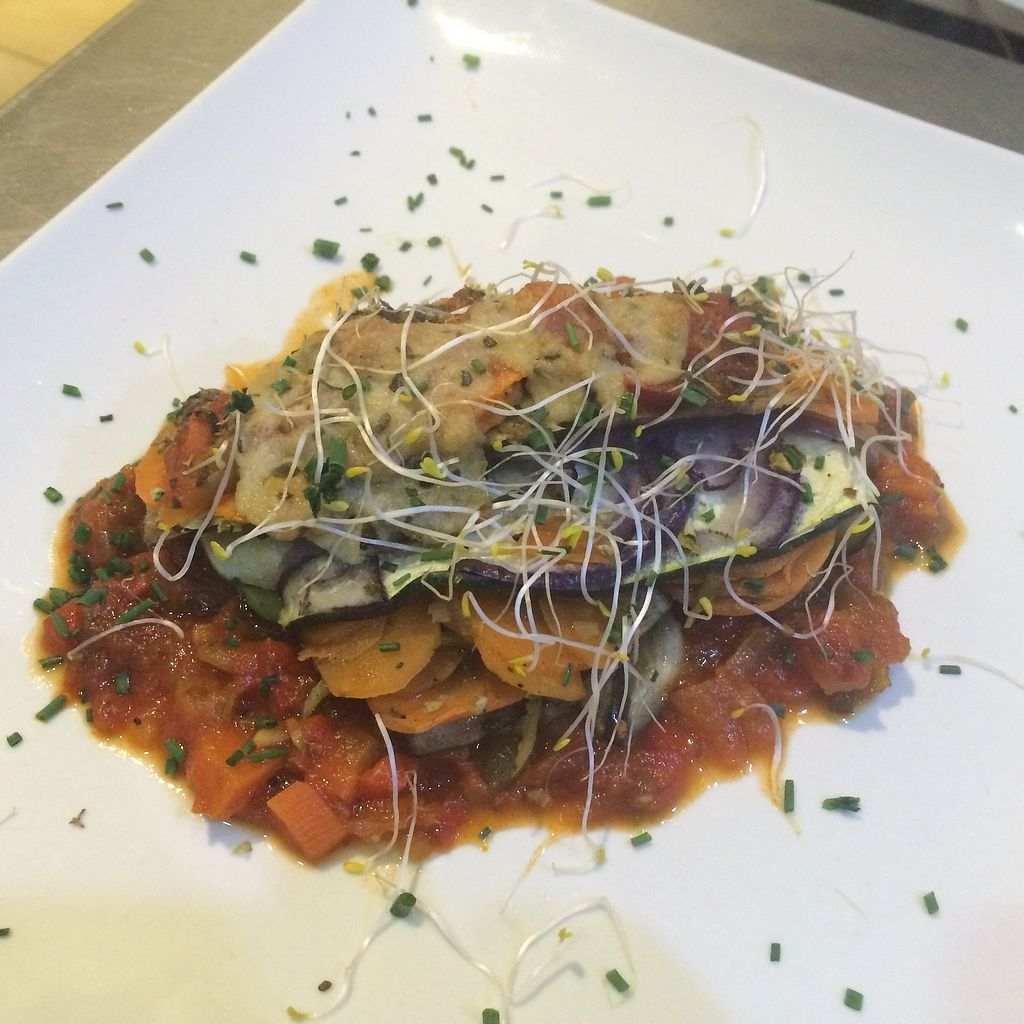 """Photo of Green Bar  by <a href=""""/members/profile/Greenbar360"""">Greenbar360</a> <br/>Vegetable lasagna with vegan bolognesa!!! <br/> June 29, 2017  - <a href='/contact/abuse/image/86212/274820'>Report</a>"""