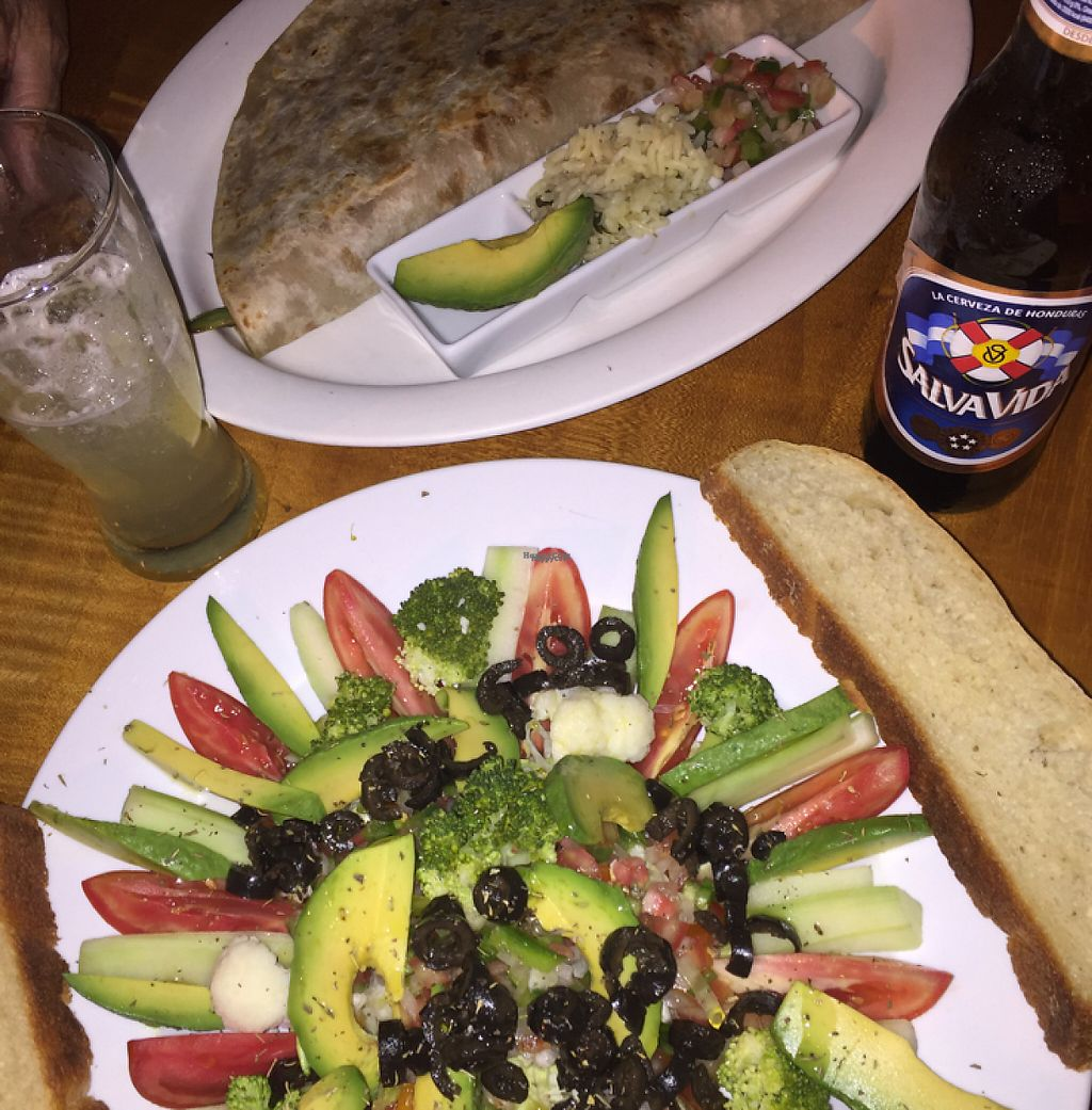 "Photo of ViaVia Cafe  by <a href=""/members/profile/lostwombat"">lostwombat</a> <br/>Veggie baleada and salad <br/> April 9, 2017  - <a href='/contact/abuse/image/86219/246017'>Report</a>"