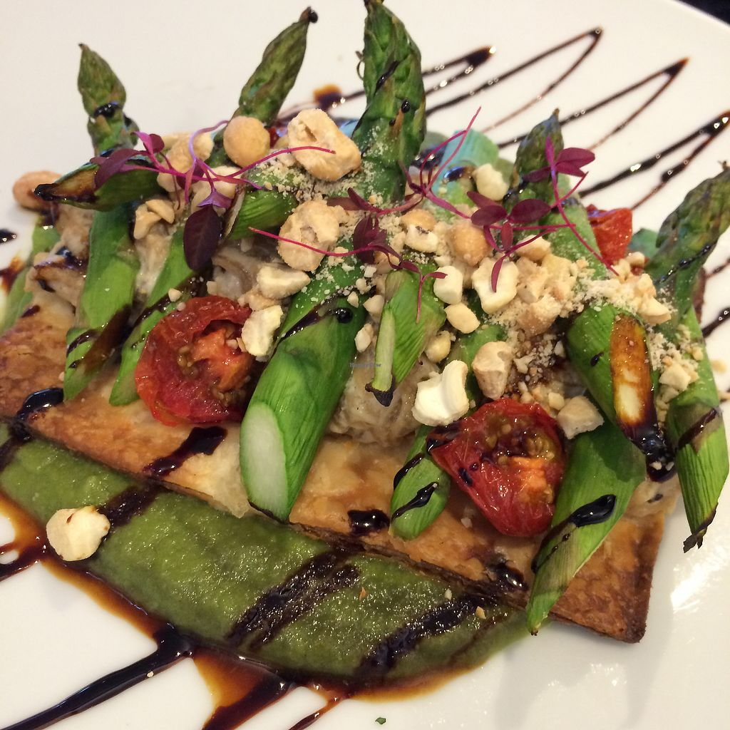 "Photo of The Gate - Seymour Place  by <a href=""/members/profile/Vgneats"">Vgneats</a> <br/>Vegan asparagus tart with cashew cheese <br/> July 31, 2017  - <a href='/contact/abuse/image/86221/287188'>Report</a>"