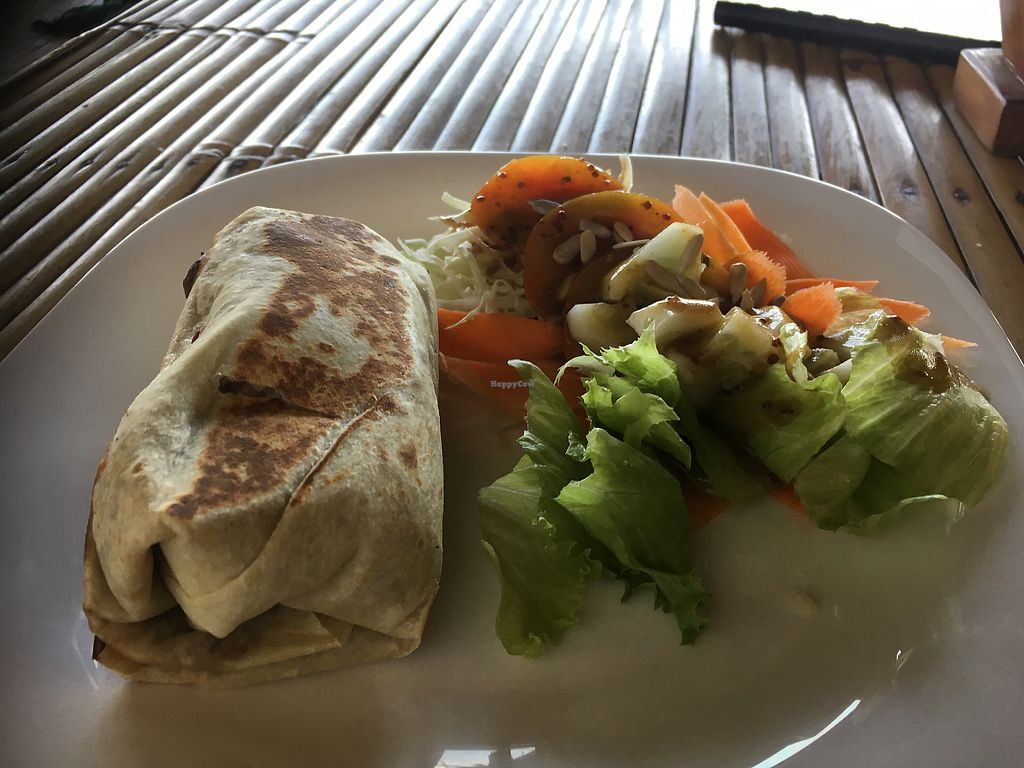 "Photo of Green Leaf Cafe  by <a href=""/members/profile/IlonaGoossens"">IlonaGoossens</a> <br/>Vegan burrito  <br/> April 25, 2018  - <a href='/contact/abuse/image/86238/390854'>Report</a>"
