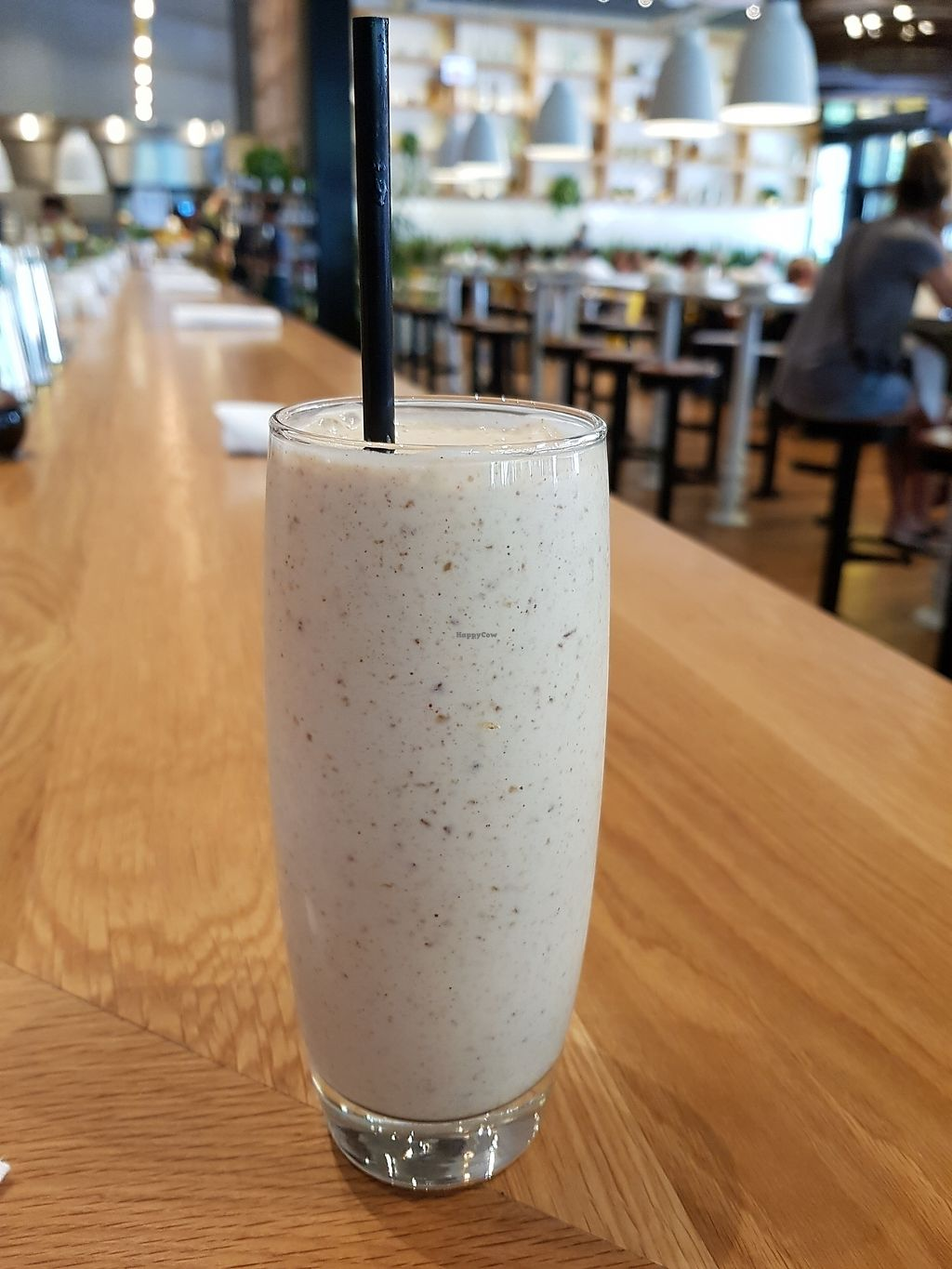 """Photo of True Food Kitchen  by <a href=""""/members/profile/timruddell"""">timruddell</a> <br/>Banana, almond butter, almond milk, and date smoothie <br/> July 10, 2017  - <a href='/contact/abuse/image/86255/278904'>Report</a>"""
