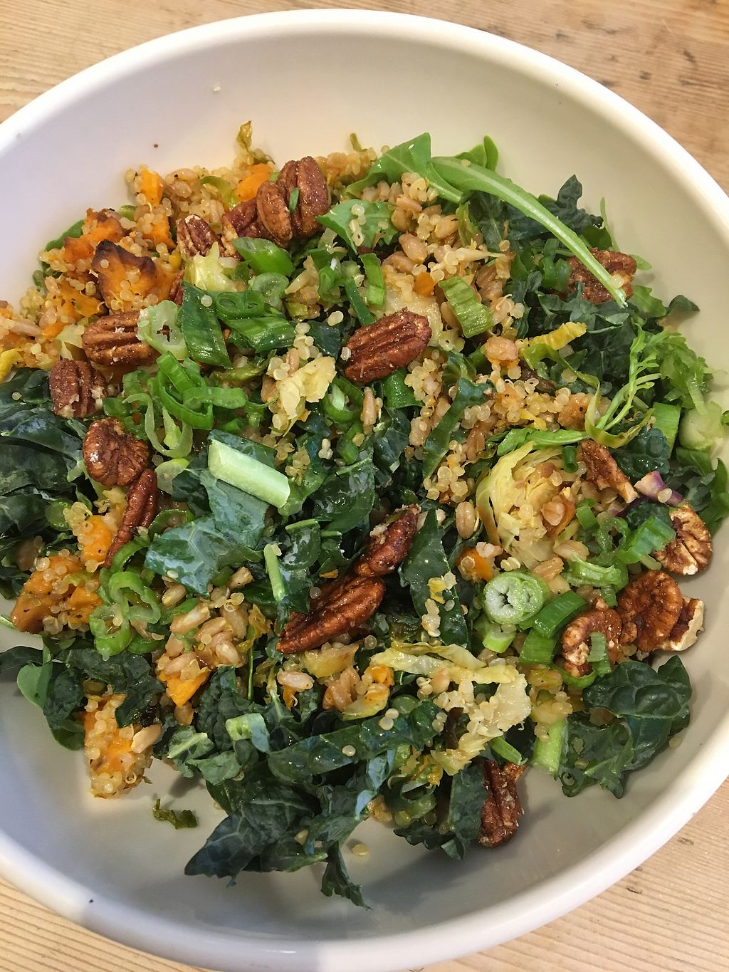 "Photo of Le Pain Quotidien - 97th & Madison  by <a href=""/members/profile/JJones315"">JJones315</a> <br/>Warm grain bowl (w/o cheese) <br/> April 17, 2018  - <a href='/contact/abuse/image/86277/387332'>Report</a>"