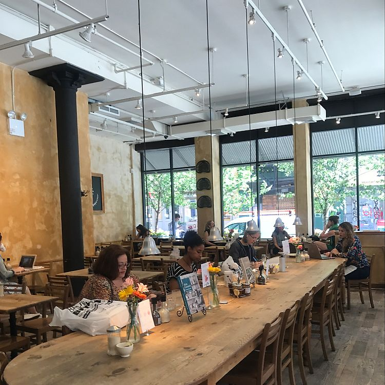 "Photo of Le Pain Quotidien - Tribeca  by <a href=""/members/profile/Miss.Saye"">Miss.Saye</a> <br/>One of the biggest branches <br/> June 20, 2017  - <a href='/contact/abuse/image/86300/271503'>Report</a>"