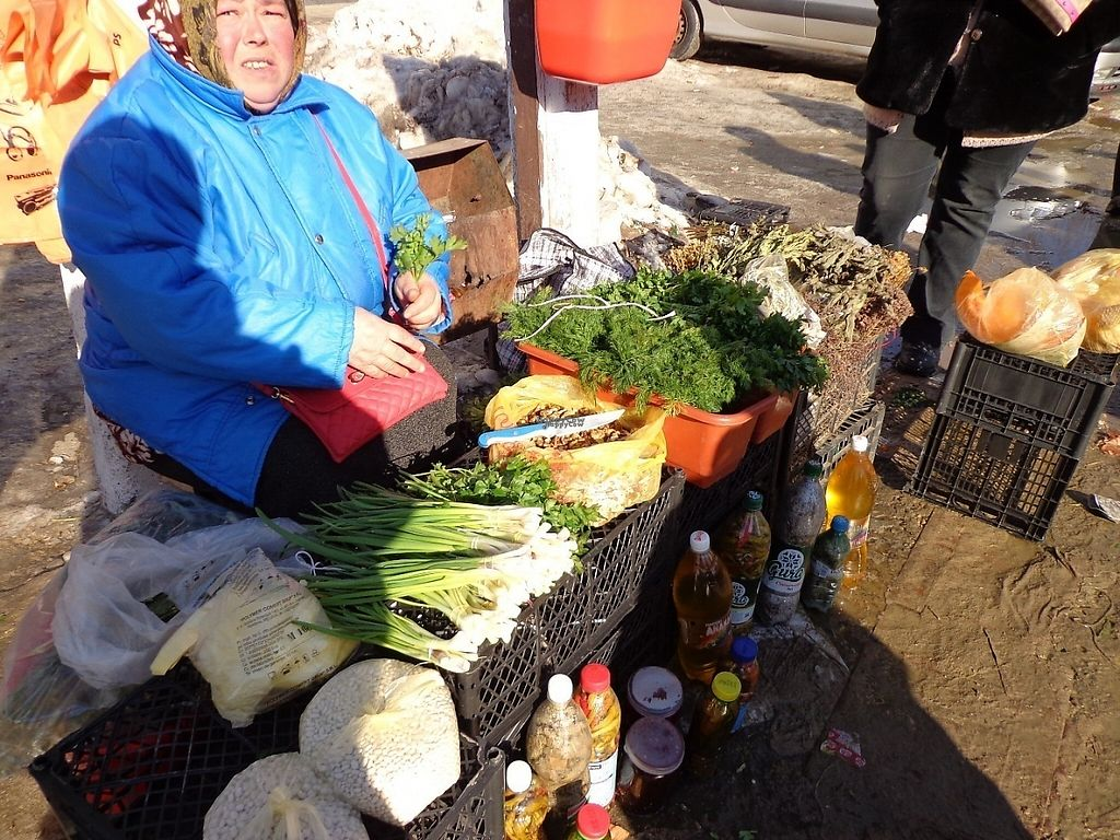 """Photo of Street Market  by <a href=""""/members/profile/constantinfurtuna"""">constantinfurtuna</a> <br/>Fresh herbs, dill, parsley and other vegetables, pickled chillies this woman is selling everyday at street market in Cahul <br/> January 31, 2017  - <a href='/contact/abuse/image/86304/220294'>Report</a>"""