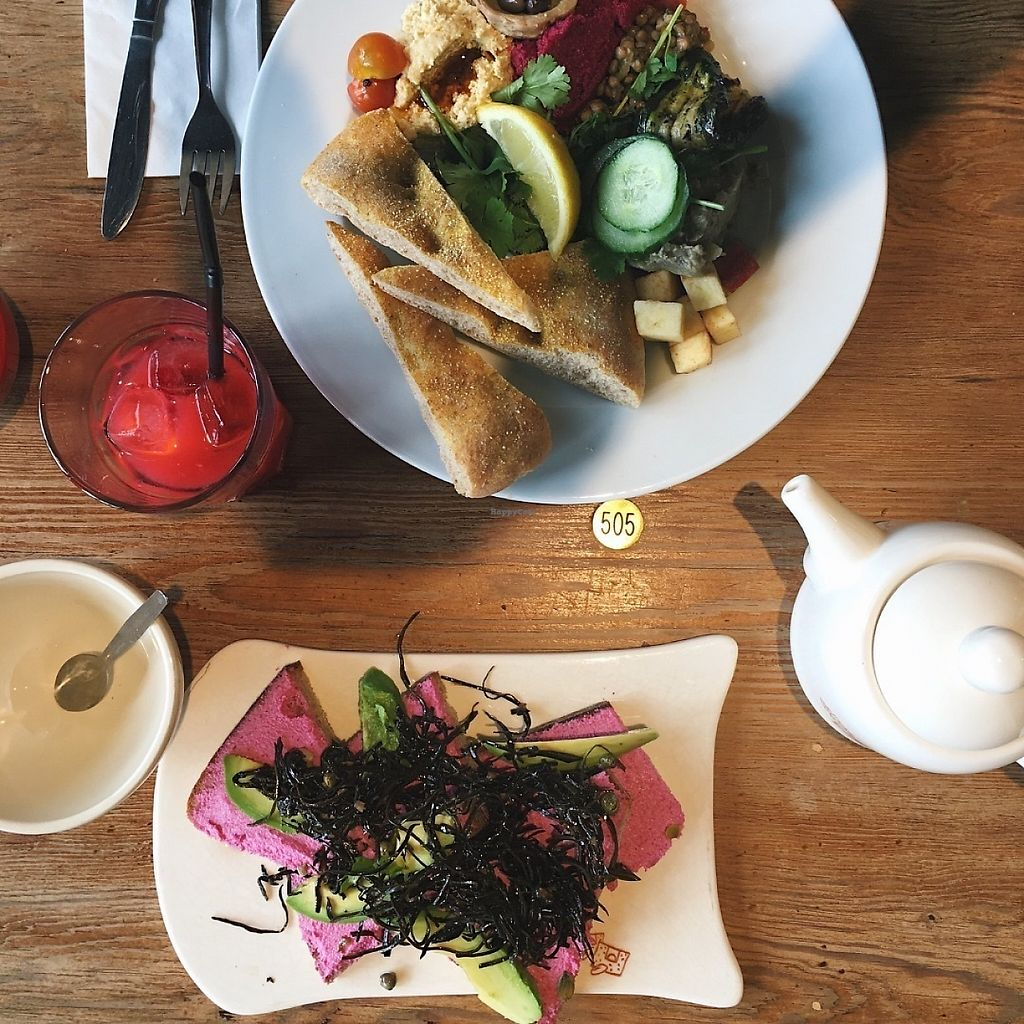 """Photo of Le Pain Quotidien  by <a href=""""/members/profile/LiesbetDilissen"""">LiesbetDilissen</a> <br/>Libaneze Mezze + omega 3 tartine, both delicious and vegan <br/> May 14, 2017  - <a href='/contact/abuse/image/86329/258796'>Report</a>"""