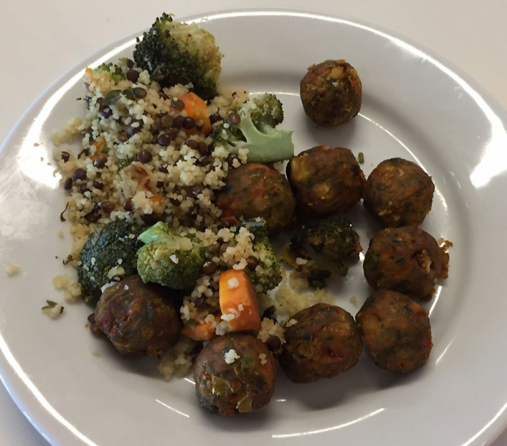 "Photo of IKEA  by <a href=""/members/profile/vegies28"">vegies28</a> <br/>Vegie meatballs with cous cous and roast veggies <br/> February 4, 2017  - <a href='/contact/abuse/image/86334/247749'>Report</a>"