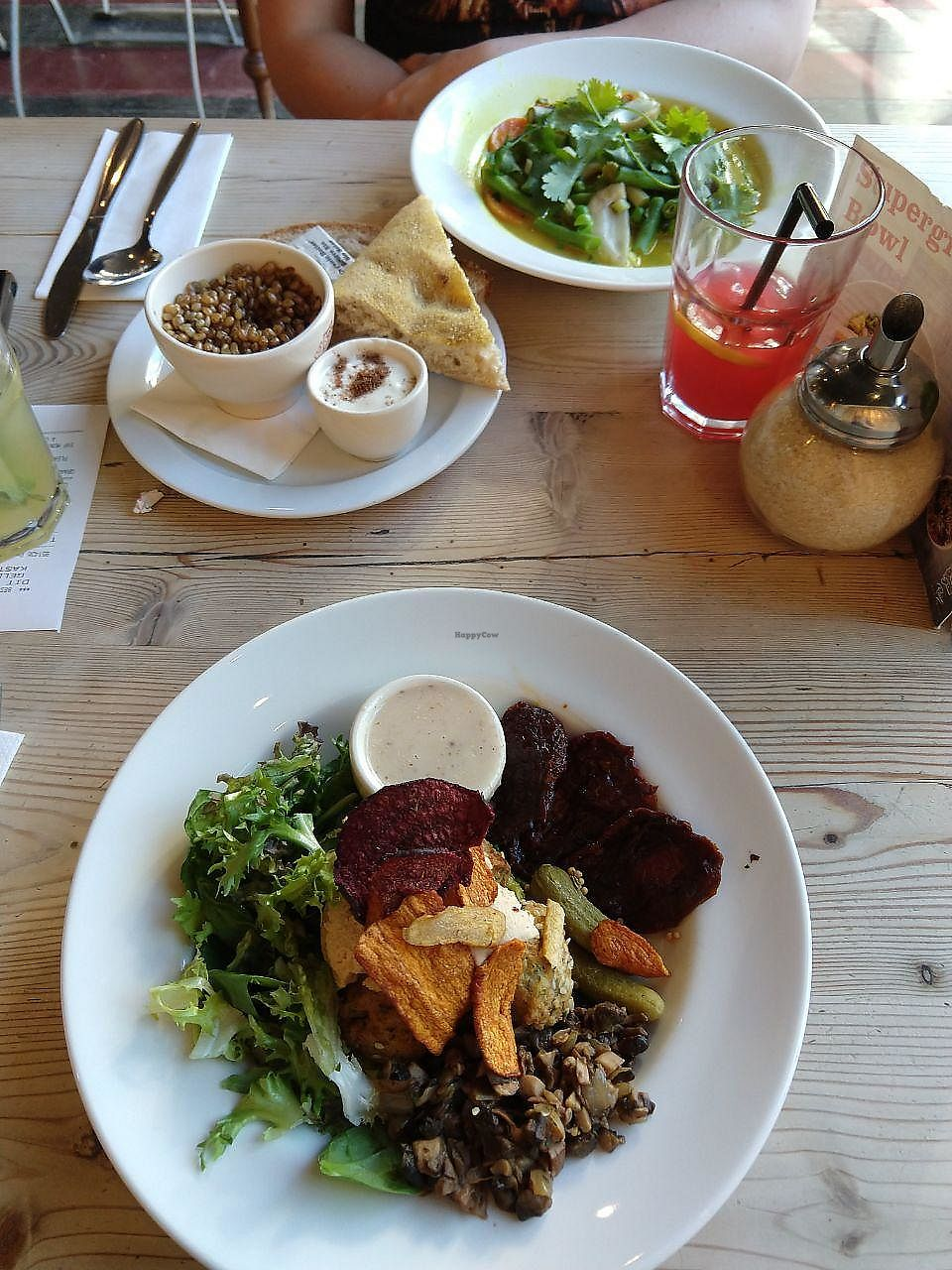 """Photo of Le Pain Quotidien  by <a href=""""/members/profile/KennyVdm"""">KennyVdm</a> <br/>Curry with vegetables (top) and Falafel Bowl (bottom) <br/> May 6, 2018  - <a href='/contact/abuse/image/86339/396203'>Report</a>"""